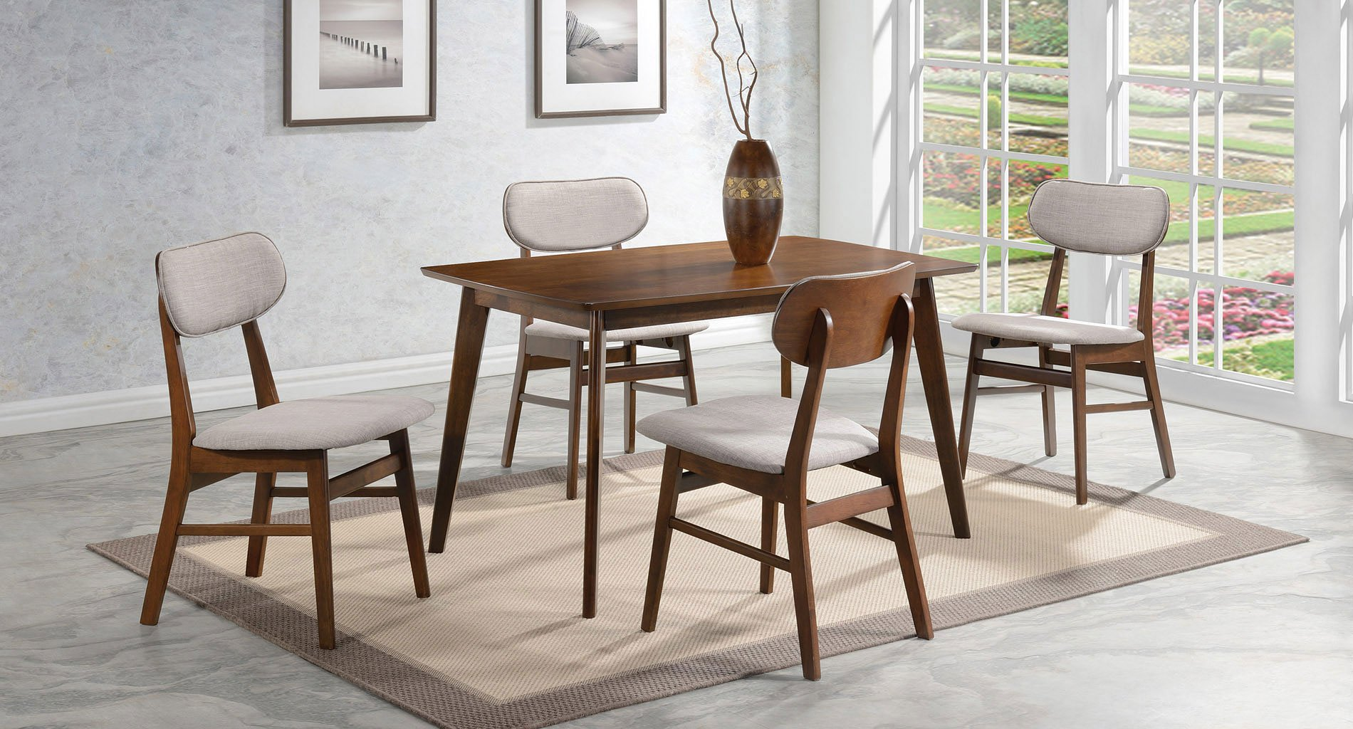 Kersey Dining Room Set W/ Cushioned Chairs