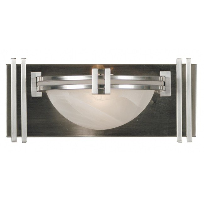 Lumen 1 Light Sconce (Brushed Steel)