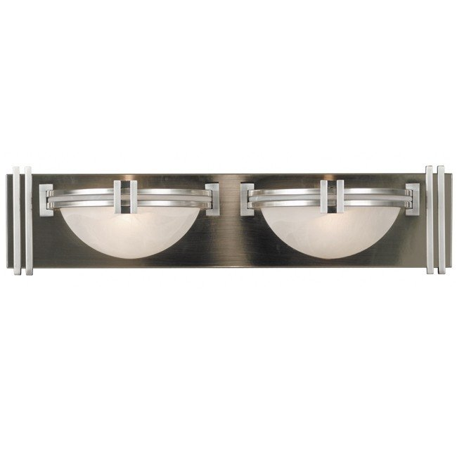 Lumen 2 Light Vanity (Brushed Steel)