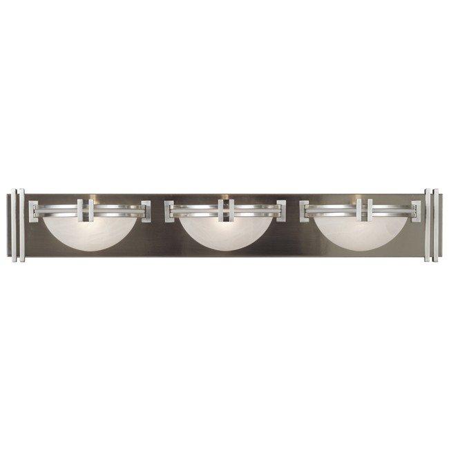 Lumen 3 Light Vanity (Brushed Steel)