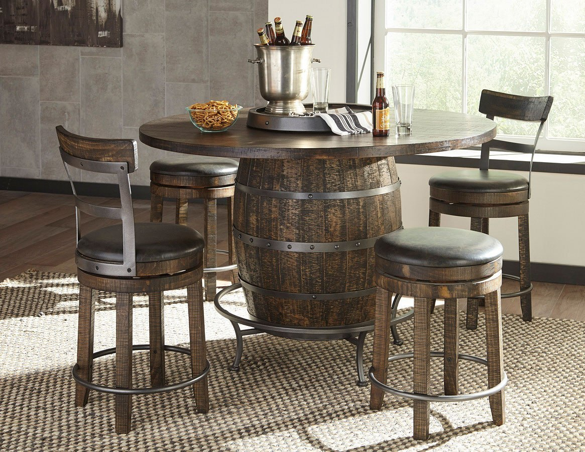 metroflex round wine barrel pub table set w chair choices sunny designs furniture cart. Black Bedroom Furniture Sets. Home Design Ideas