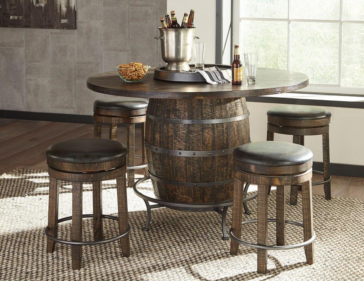 wine barrel pub tables images
