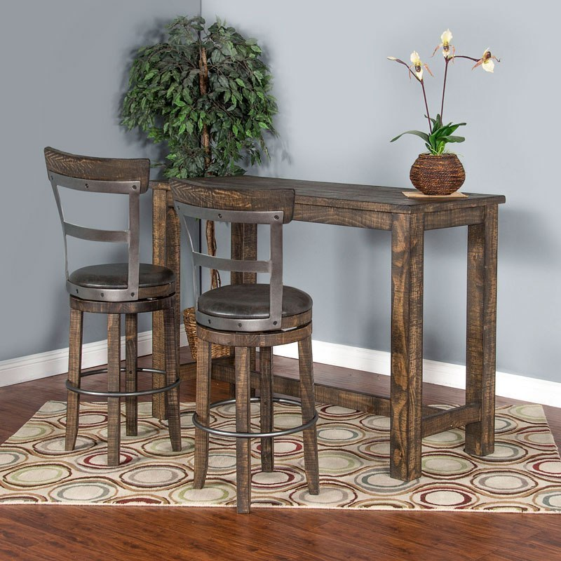 Metroflex Pub Table Set W 30 Inch Barstools Leaf