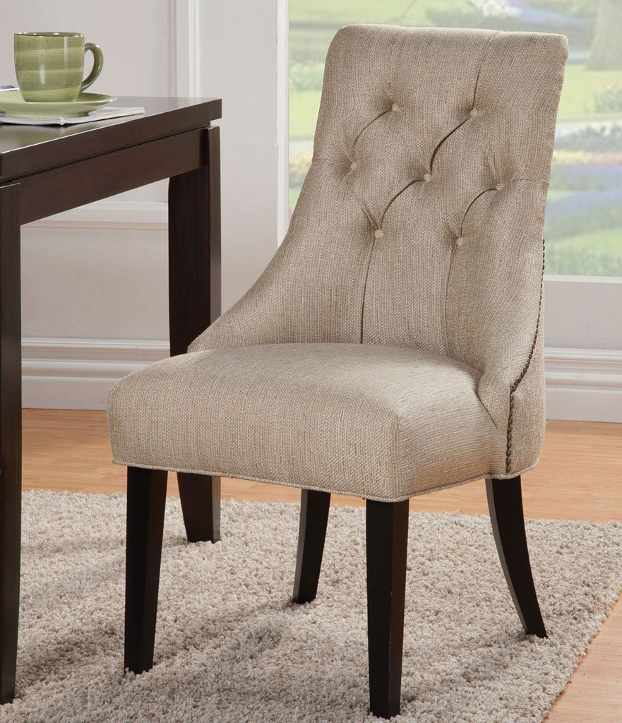 Parson Side Chair Sand Set Of 2 Coaster Furniture