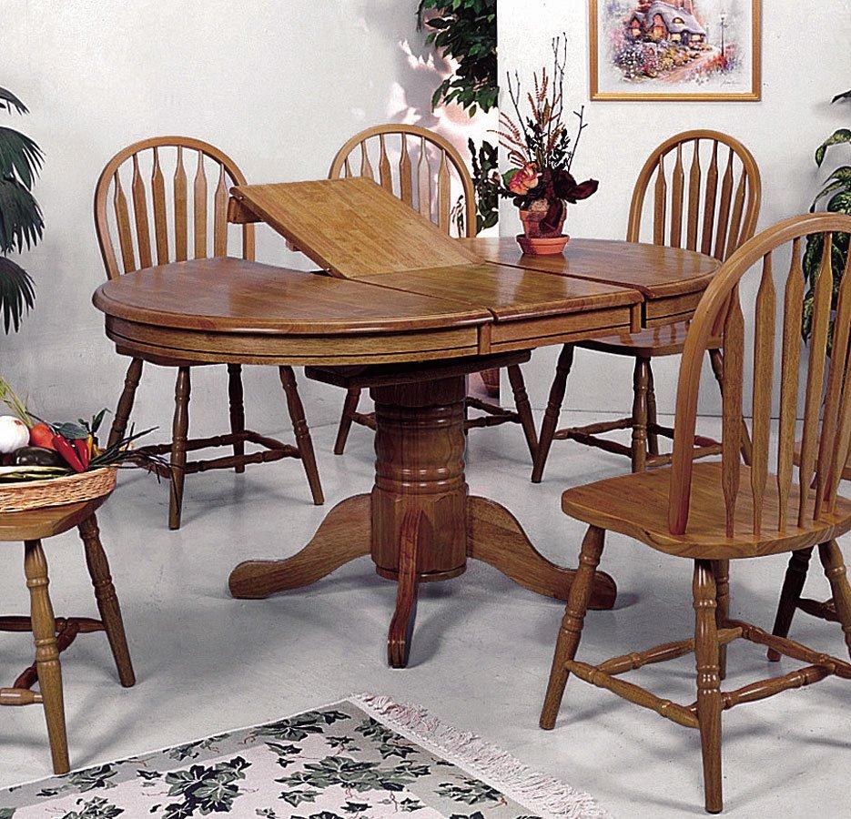 Farmhouse Dining Room Sets: Farm House Oval Dining Room Set Crown Mark Furniture