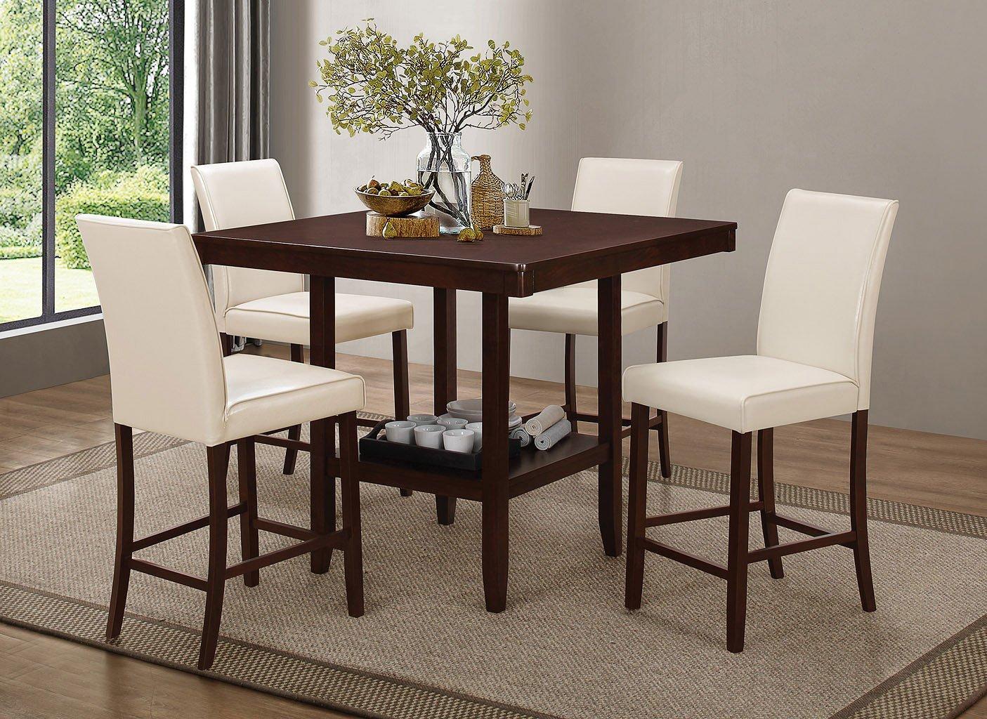 Fattori Counter Height Dining Set W/ Cream Chairs