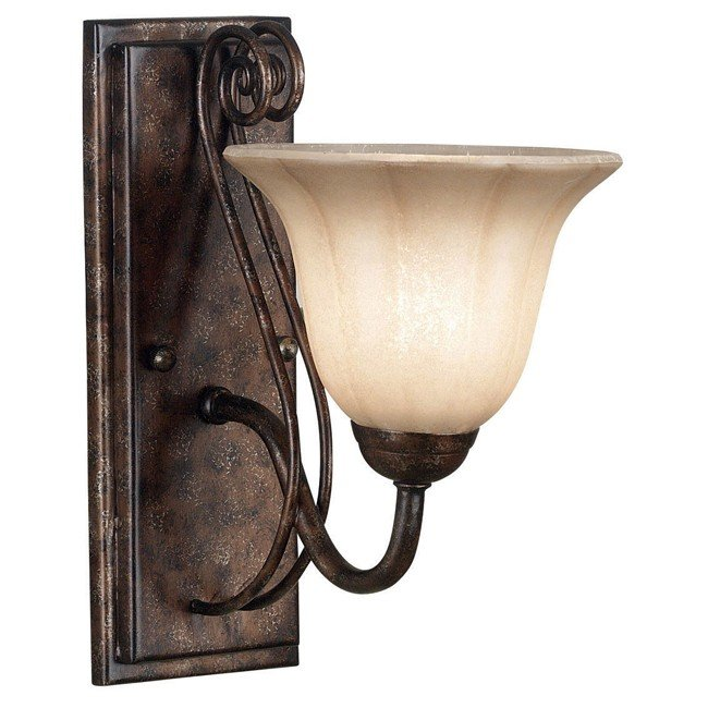 Wallis 1 Light Sconce (Burnished Bronze)