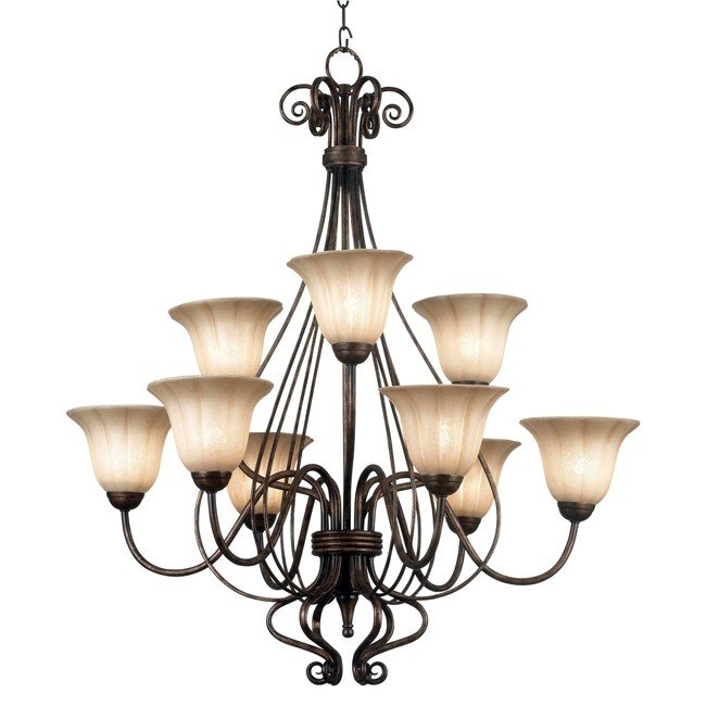 Wallis 9 Light Chandelier (Burnished Bronze)