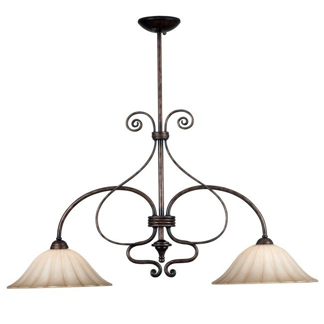Wallis 2 Light Island Light (Burnished Bronze)