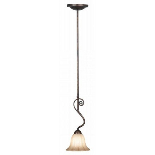 Wallis 1 Light Mini Pendant (Burnished Bronze)