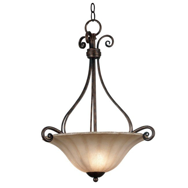 Wallis 3 Light Pendant (Burnished Bronze)