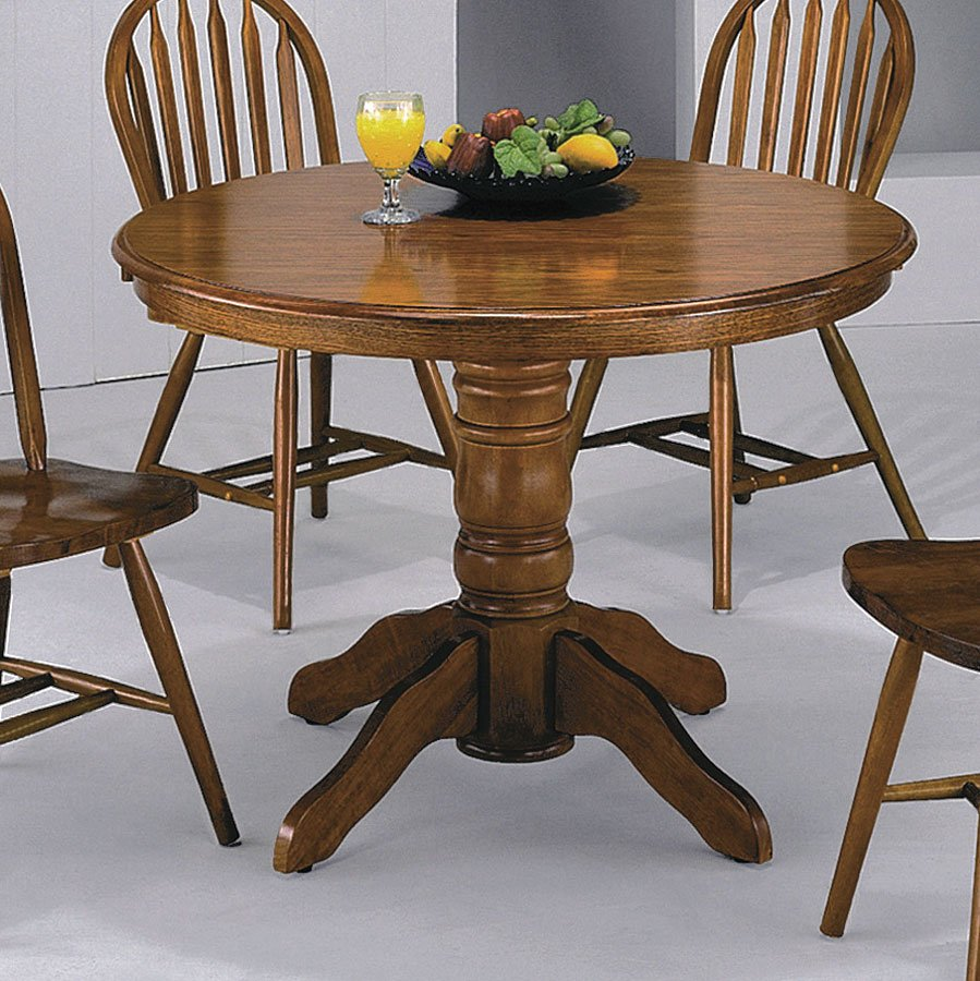 Farm House Round Dining Room Set Crown Mark Furniture