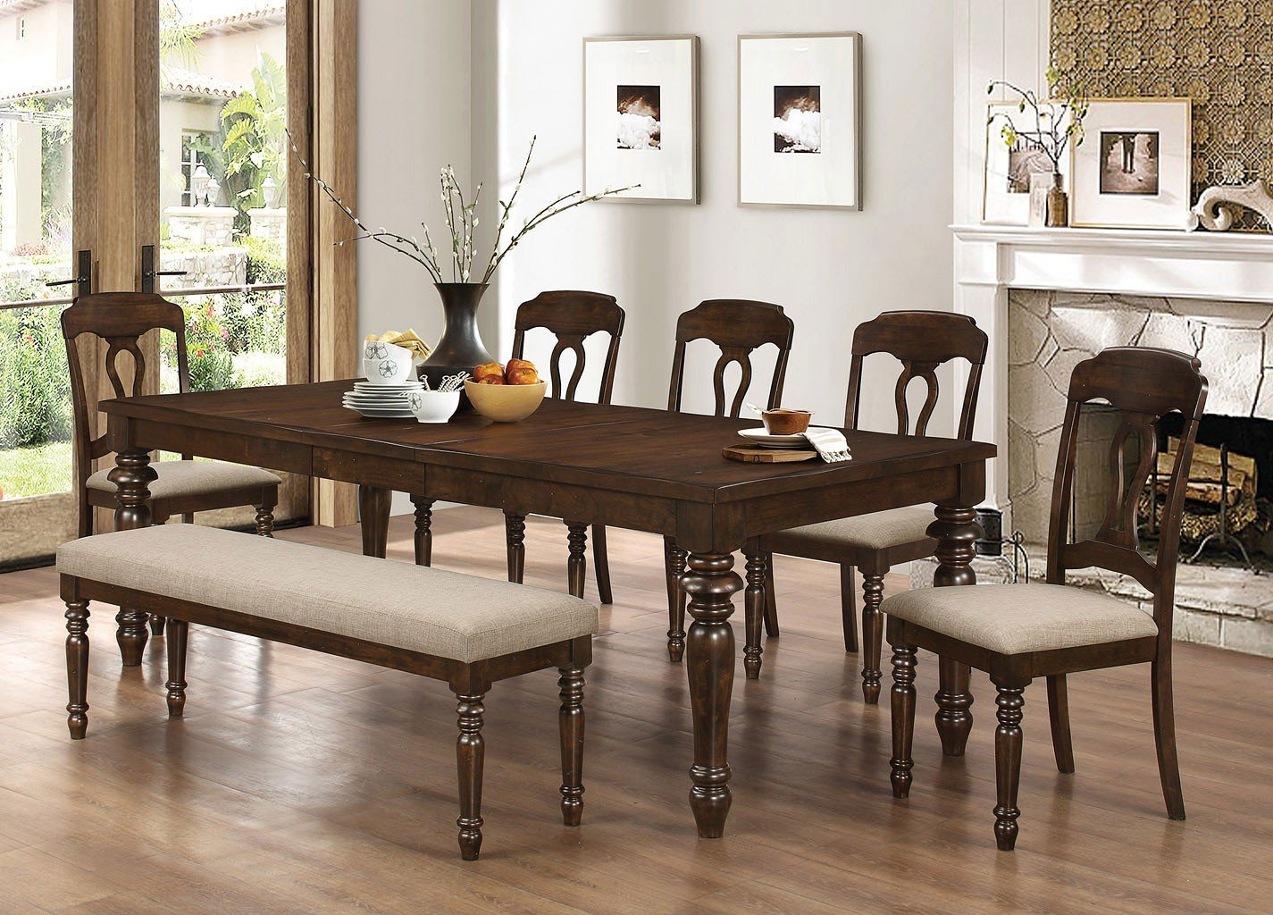 Hamilton Dining Room Set W Bench Coaster Furniture