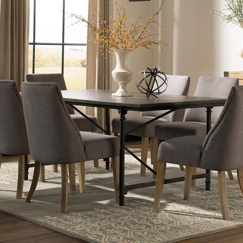 Grey Dining Room Chairs: Antonelli Dining Room Set W/ Grey Chairs Coaster Furniture