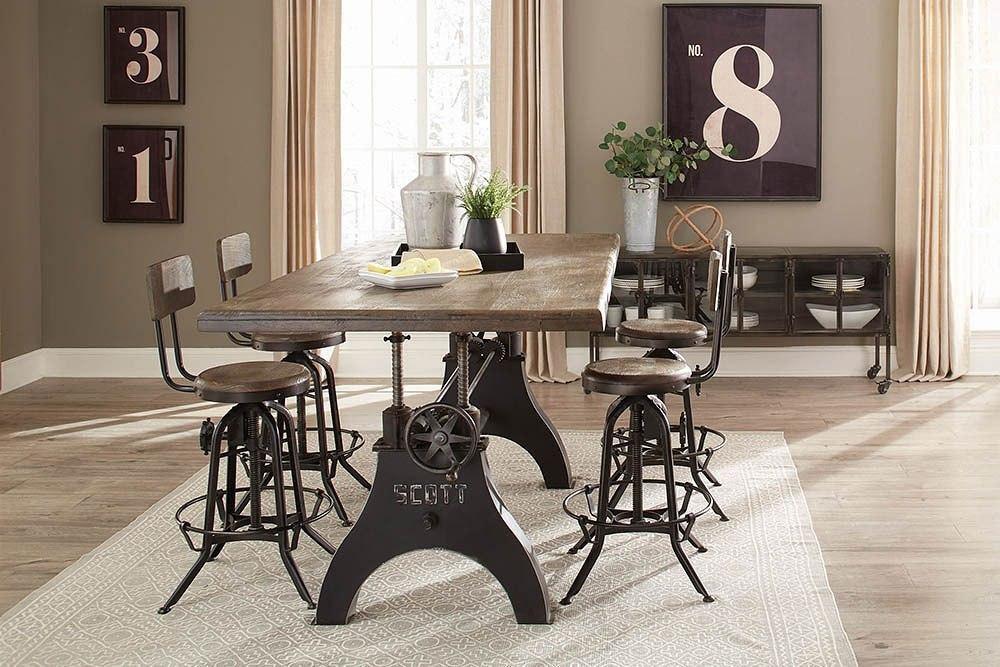 Clooney Adjustable Dining Room Set Coaster Furniture