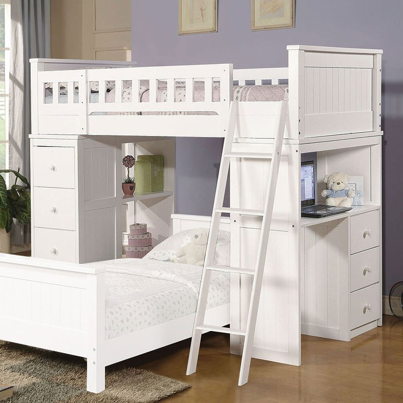 Willoughby Loft Bed White Acme Furniture 1 Reviews