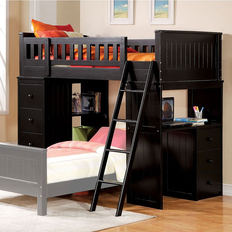 Willoughby Loft Bed Black Acme Furniture Furniture Cart