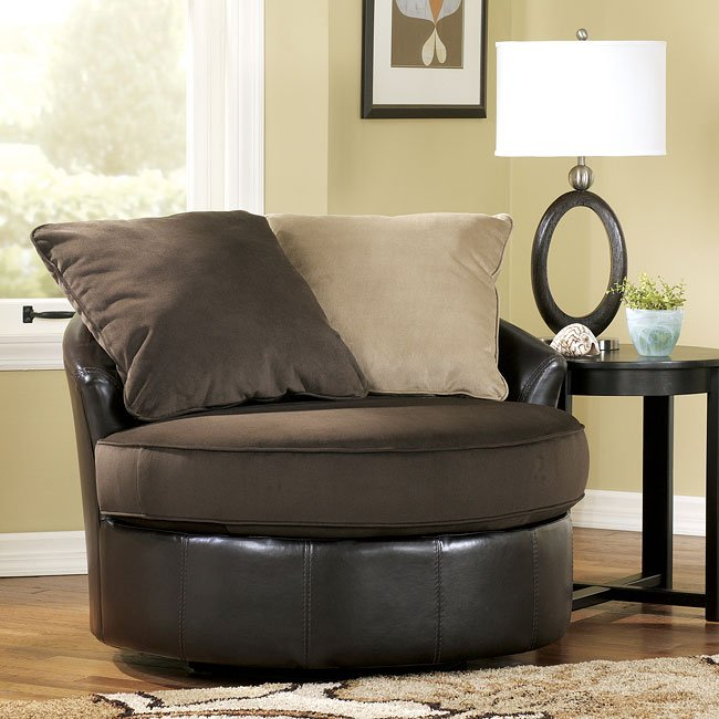 Chocolate Swivel Chair Signature Design By Ashley