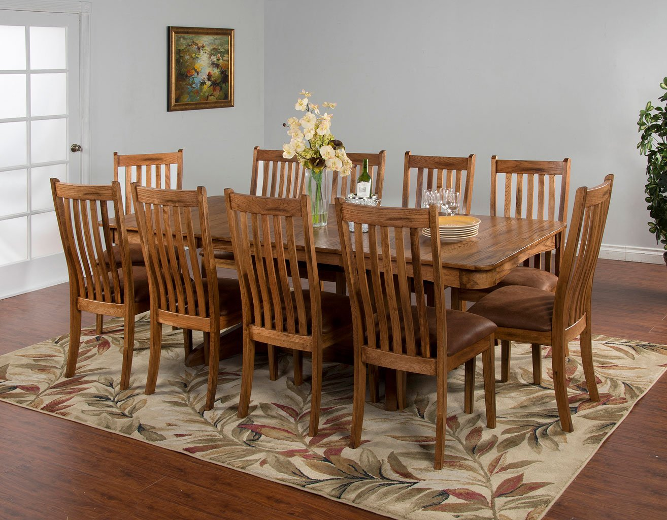 Sedona Trestle Extension Dining Room Set Sunny Designs