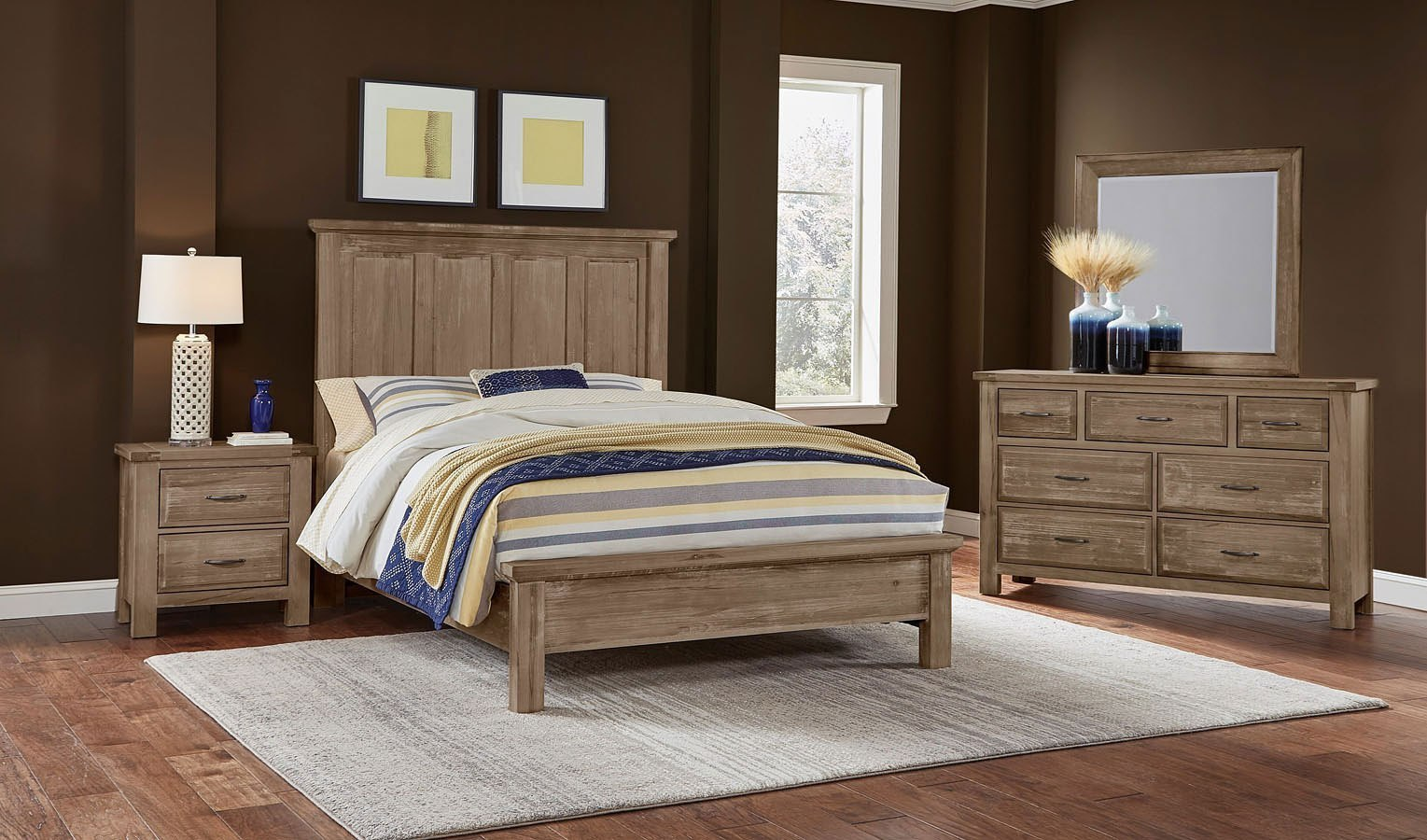Maple Road Mansion Bedroom Set (Weathered Gray) Vaughan