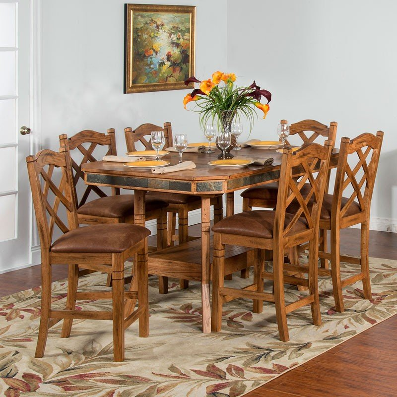 Sedona Adjustable Height Dining Set W Counter Chairs