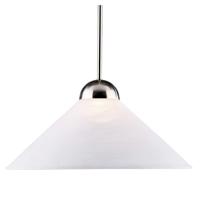 Madison 1 Light Convertible Pendant (Brushed Steel)