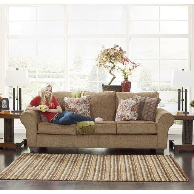 Galand Umber Sofa Signature Design 1 Reviews Furniture Cart