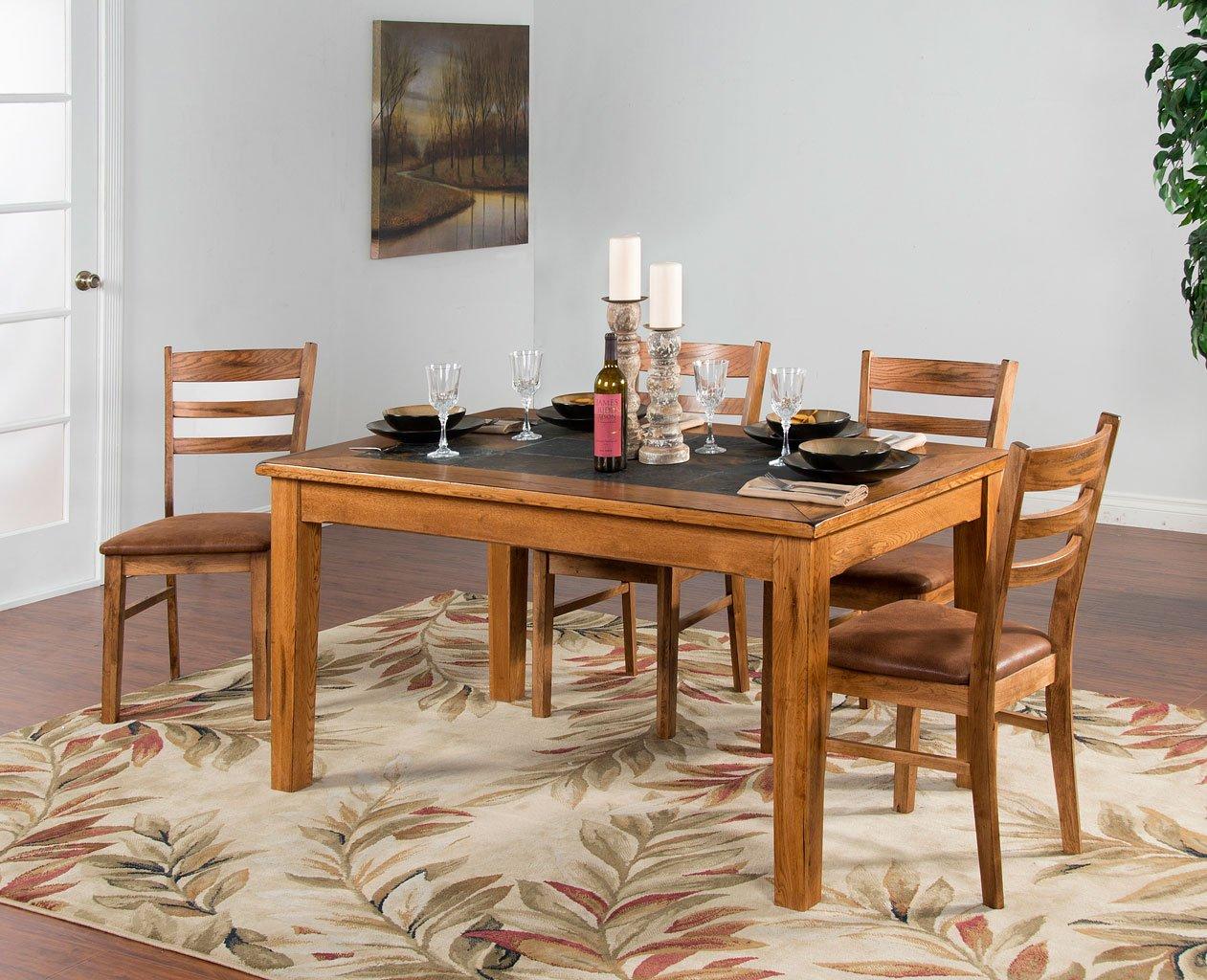 Sedona Slate Top Dining Room Set Sunny Designs Furniture Cart