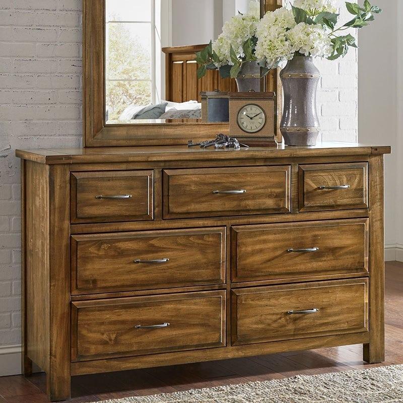 Maple Road Triple Dresser Antique Amish Vaughan Bassett