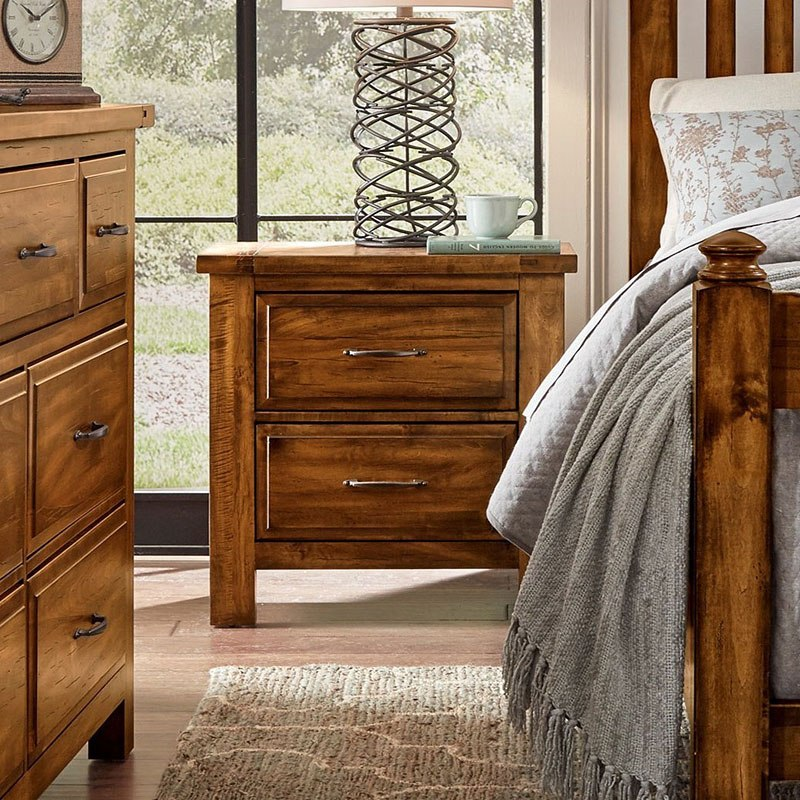 Maple Road Nightstand (Antique Amish) - Maple Road Nightstand (Antique Amish) Vaughan Bassett Furniture Cart