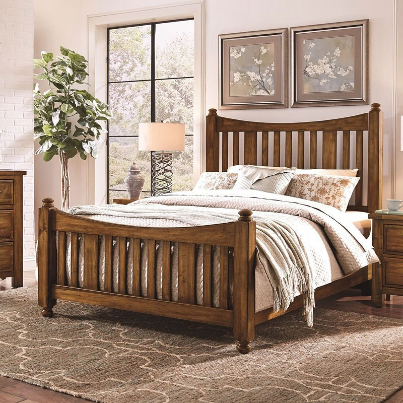 Maple Road Slat Poster Bed (Antique Amish) - Maple Road Slat Poster Bed (Antique Amish) Vaughan Bassett