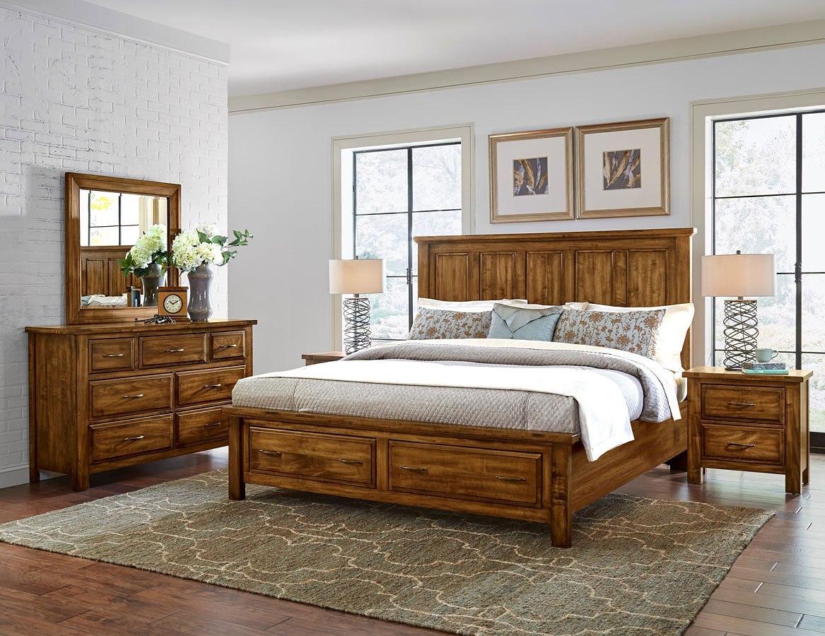 Maple Road Mansion Storage Bedroom Set (Antique Amish) - Maple Road Mansion Storage Bedroom Set (Antique Amish) Vaughan