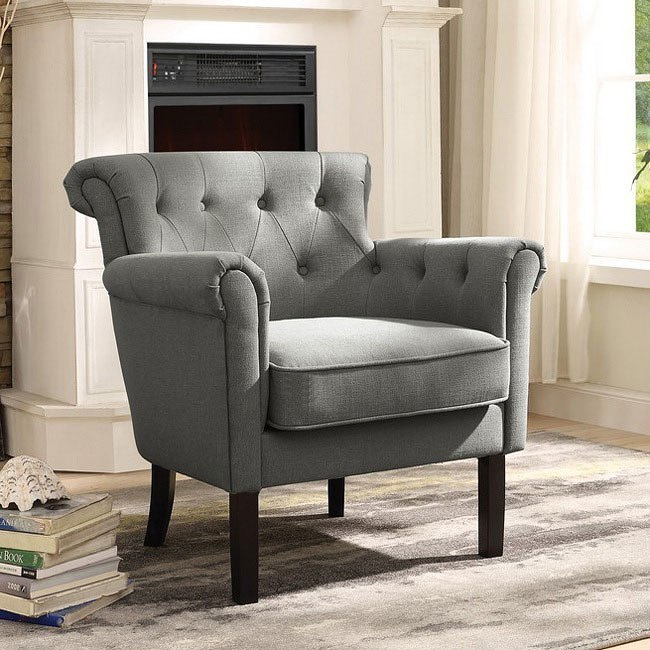 Awesome Barlowe Grey Accent Chair Theyellowbook Wood Chair Design Ideas Theyellowbookinfo