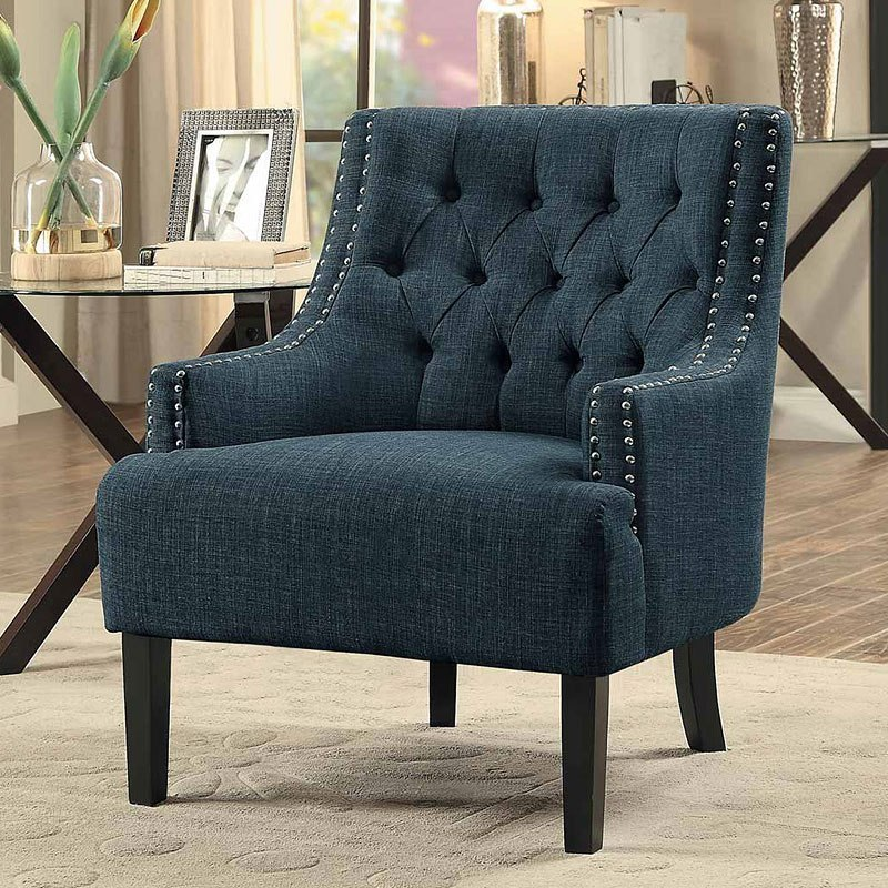 Marvelous Charisma Indigo Accent Chair Creativecarmelina Interior Chair Design Creativecarmelinacom