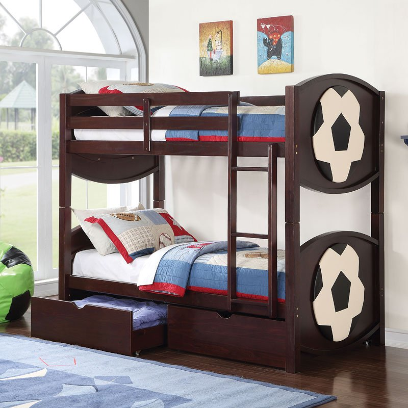 All Star Soccer Twin Bunk Bed. Mattress Sold Separately