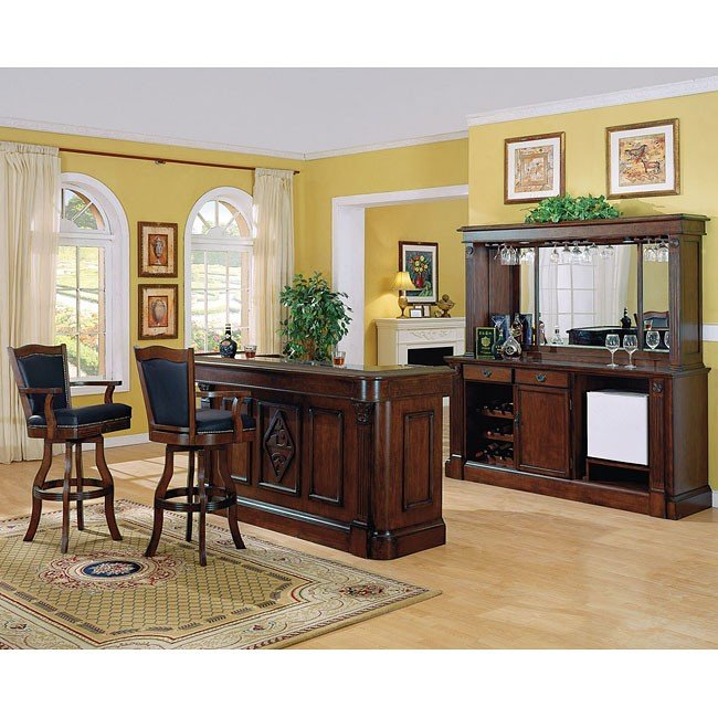 Monticello Home Bar Set (Distressed Walnut)