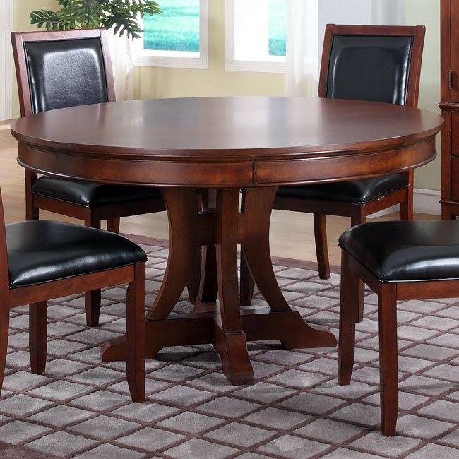 Avalon 54 Inch Round Table Homelegance Furniture Cart