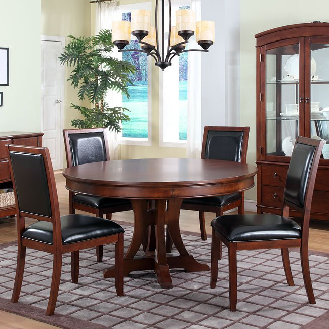 Avalon Dining Room Set With Inch Round Table Homelegance - 54 inch round dining room table
