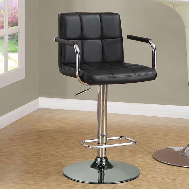 Black Adjustable Bar Stool Coaster Furniture Furniture Cart