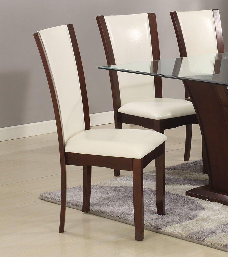 Camelia Rectangular Dining Set W White Chairs Crown Mark