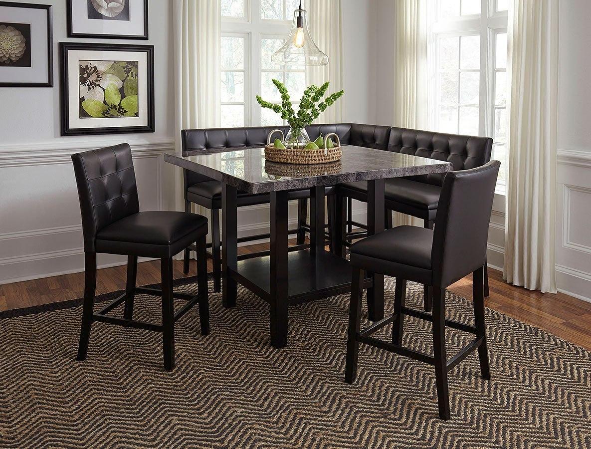 Caspian Corner Counter Height Dining Room Set