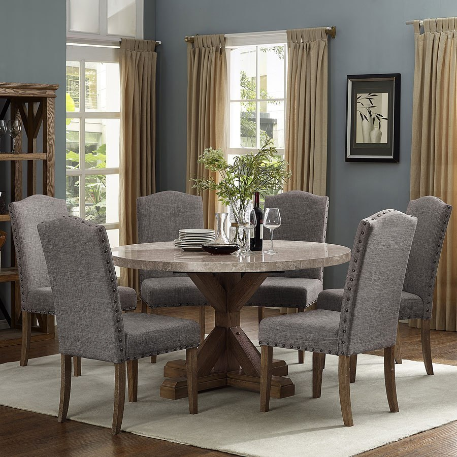 Vesper Round Dining Room Set Crown Mark Furniture Furniture Cart