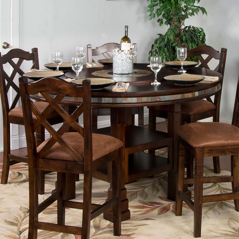 Santa Fe Adjustable Height Round Dining Set Sunny Designs