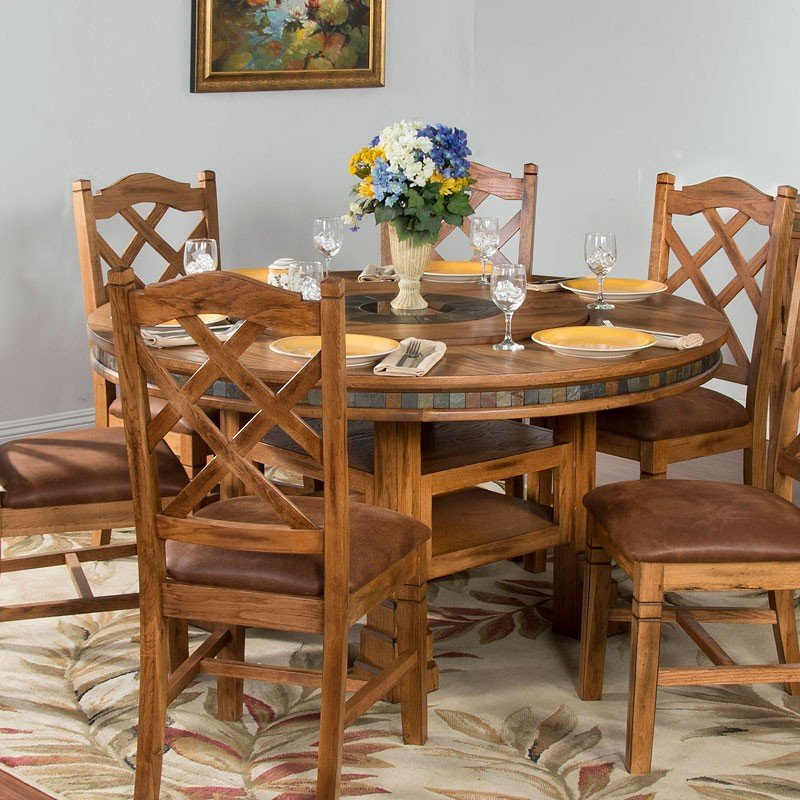Sedona Adjustable Height Round Dining Table