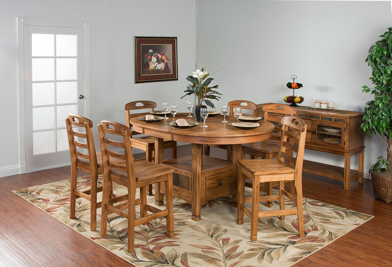 Sedona Oval Family Counter Dining Table Sunny Designs ...
