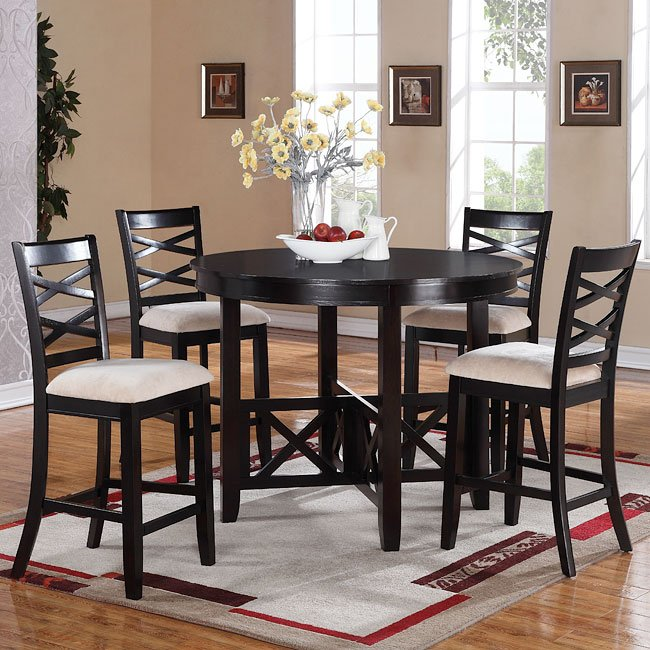 Epiphany Counter Height 5 Piece Dinette Standard Furniture