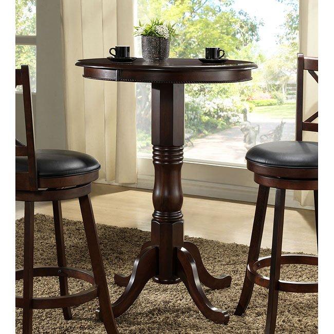 Distressed Walnut Pub Table W Adjustable Height ECI Furniture - Adjustable height cafe table
