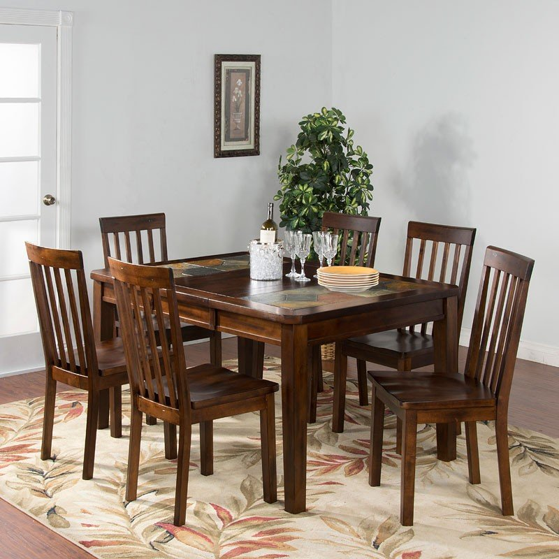 Dining Room Set With Extension santa fe slate top extension dining room set sunny designs