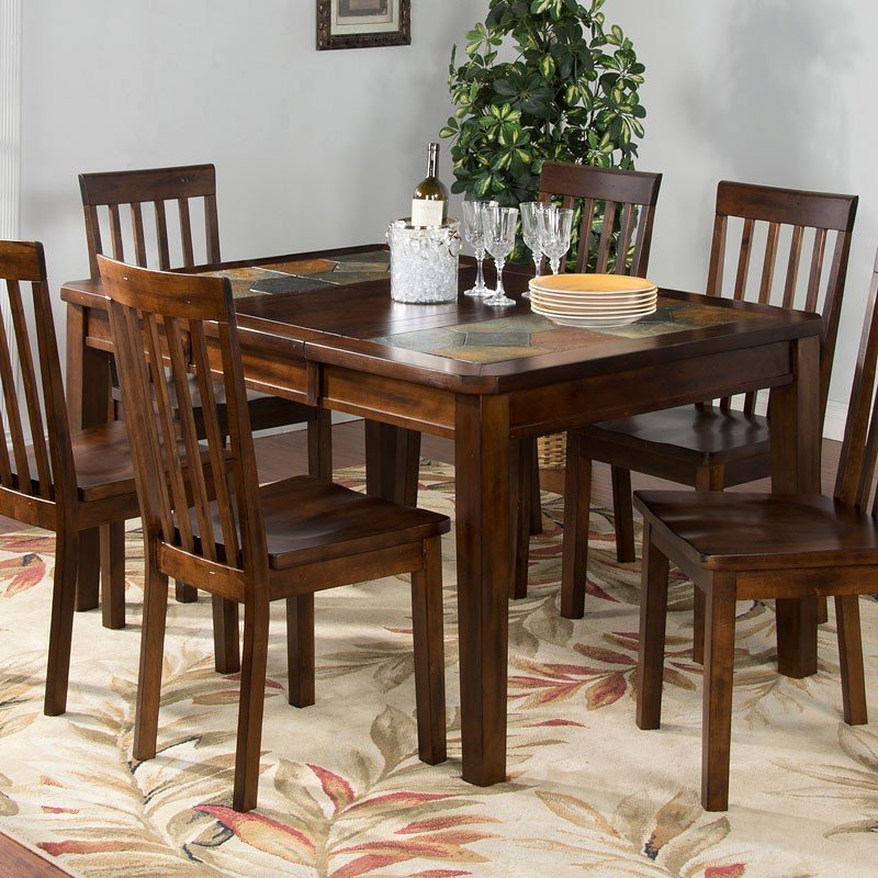Slate Dining Room Table: Santa Fe Slate Top Extension Dining Table Sunny Designs