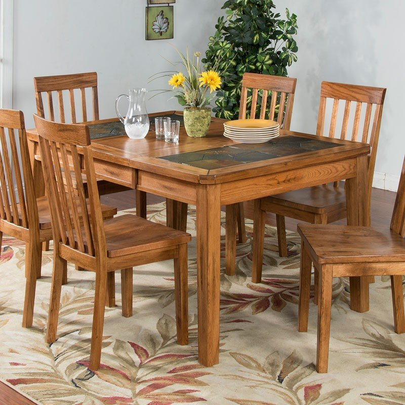 Sedona Slate Top Extension Dining Room Set Sunny Designs
